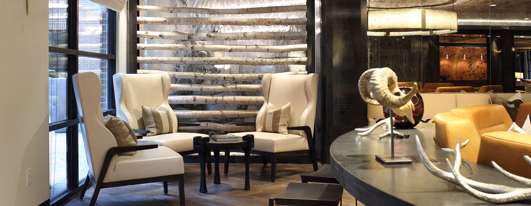 cozy seating areas in clubhouse